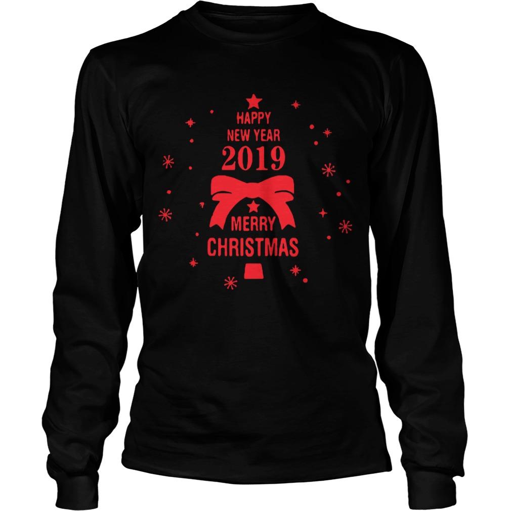 2019 Merry Christmas Happy New Year Longsleeve tee