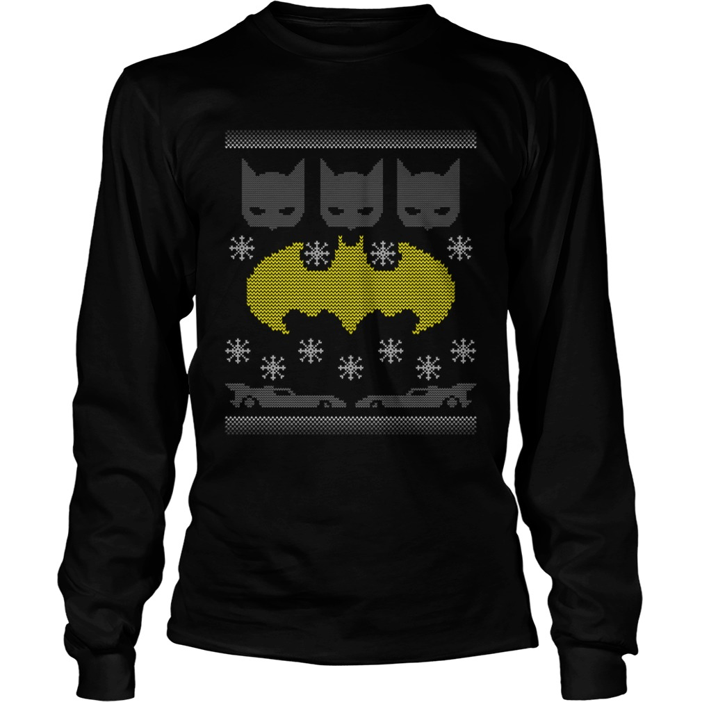 Batman crewneck ugly Christmas Longsleeve Tee