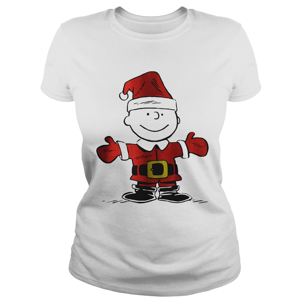 Charlie Brown is the Santa Claus Ladies tee