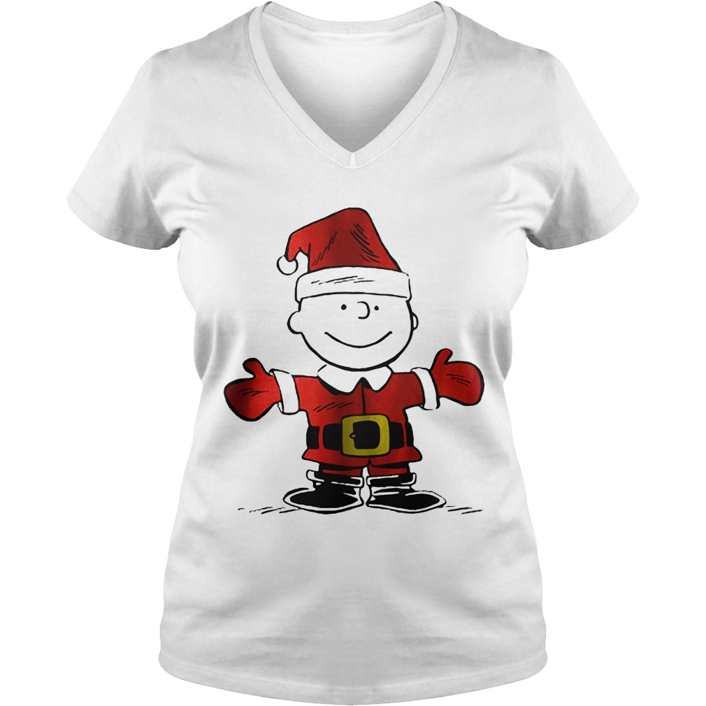 Charlie Brown is the Santa Claus V-neck t-shirt