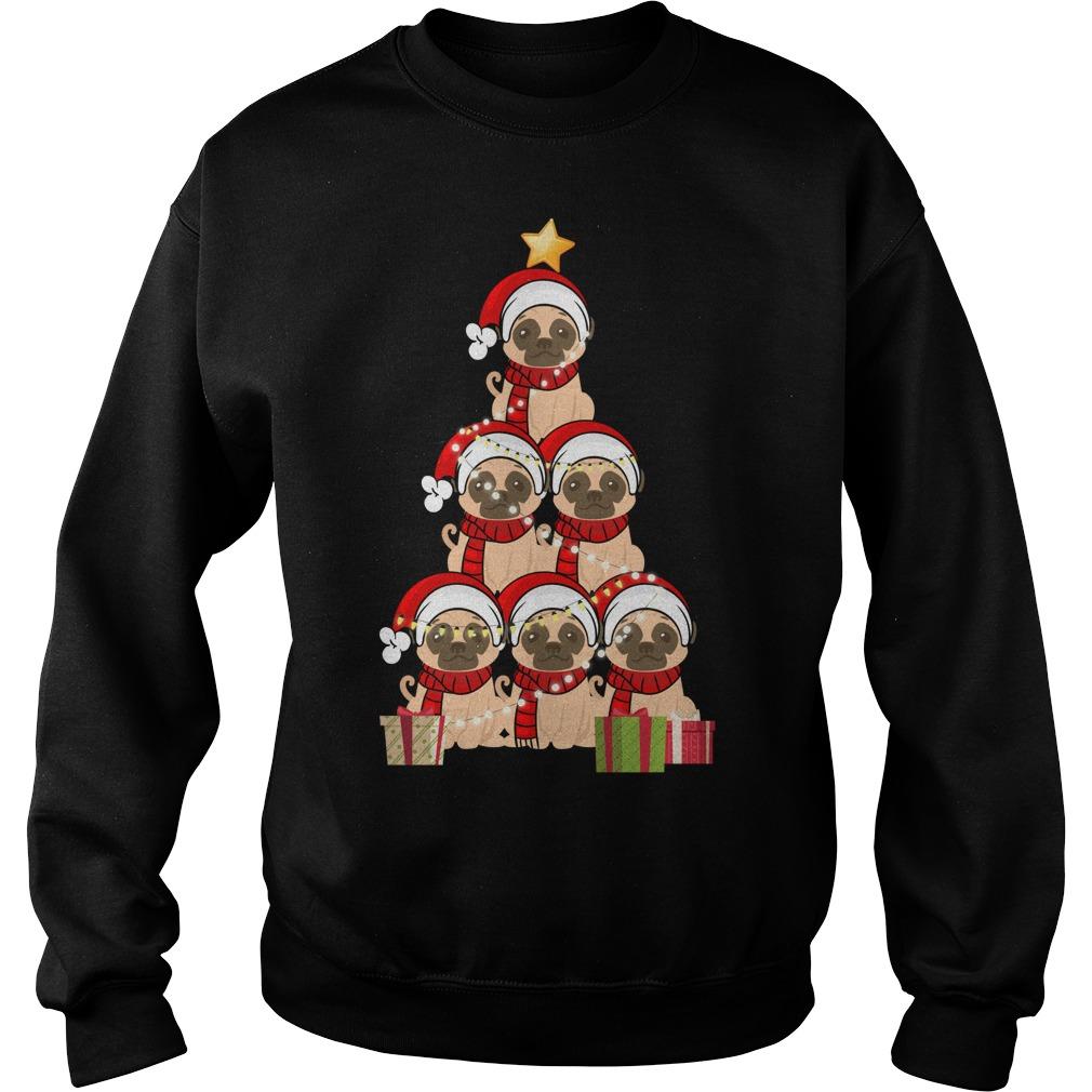 Christmas Pug Christmas tree sweater