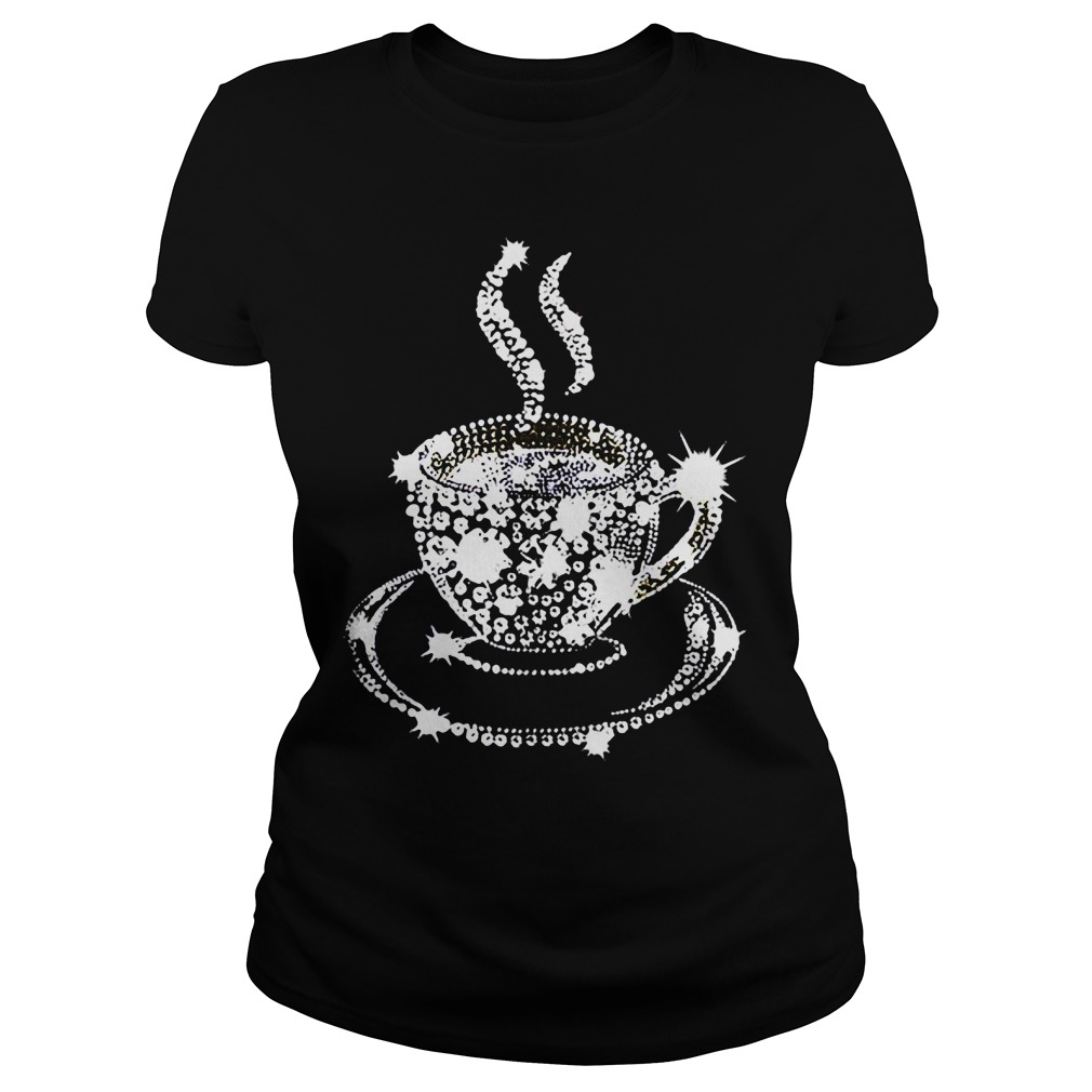 Diamond Coffee Cup Ladies tee