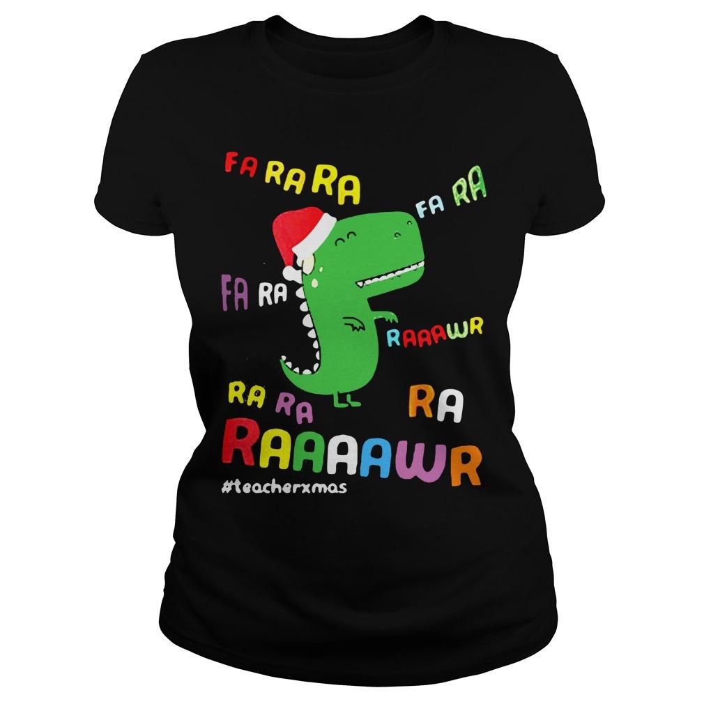 Dinosaurs Hat Christmas Ladies tee