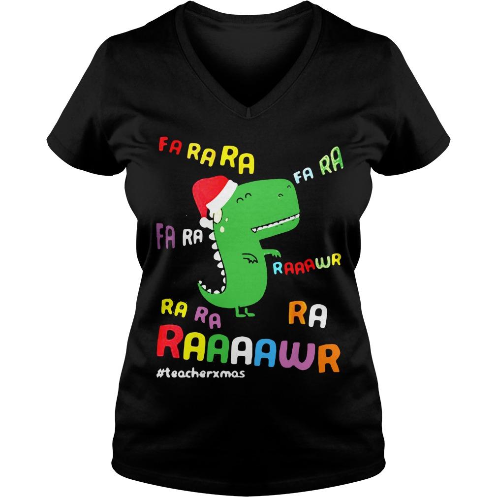 Dinosaurs Hat Christmas V-neck t-shirt