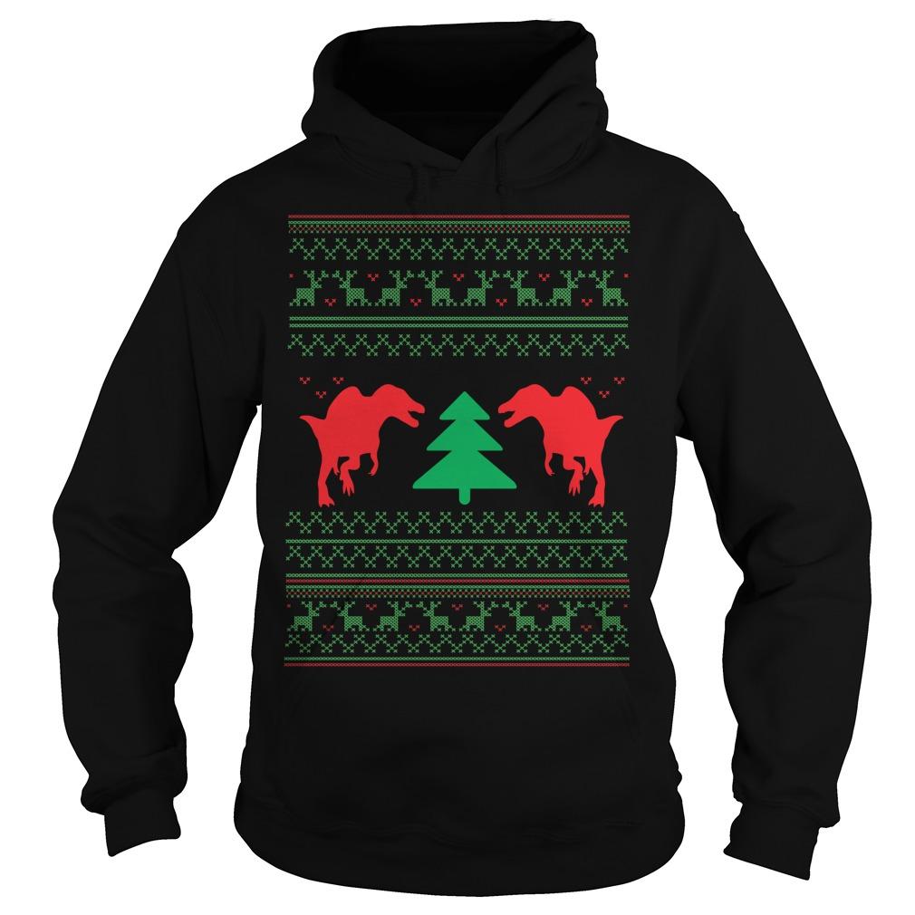 Dinosour ugly crewneck Christmas Hoodie