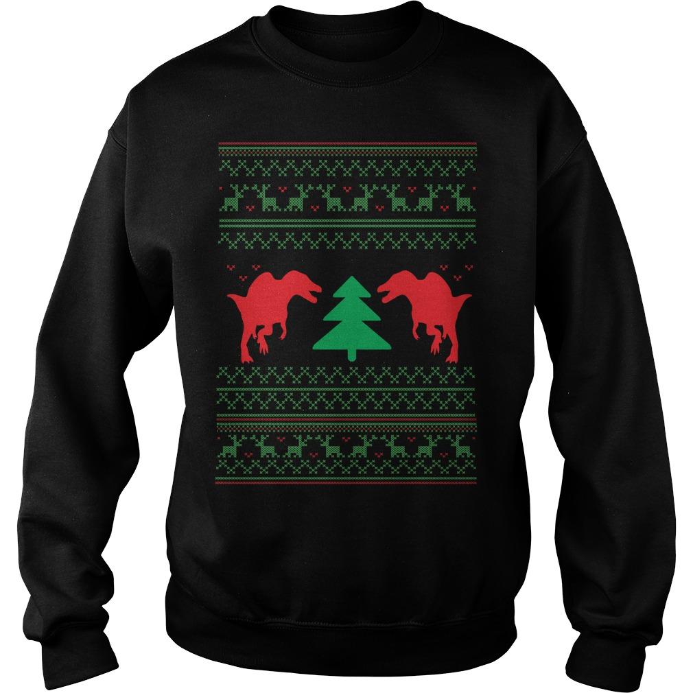 Dinosour ugly crewneck Christmas Sweater