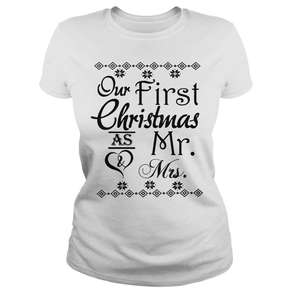 Our first Christmas as Mr and Mrs Ladies Tee