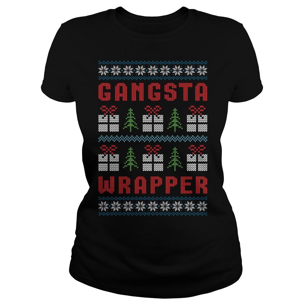 Gangsta Wrapper Ugly Christmas Ladies Tee