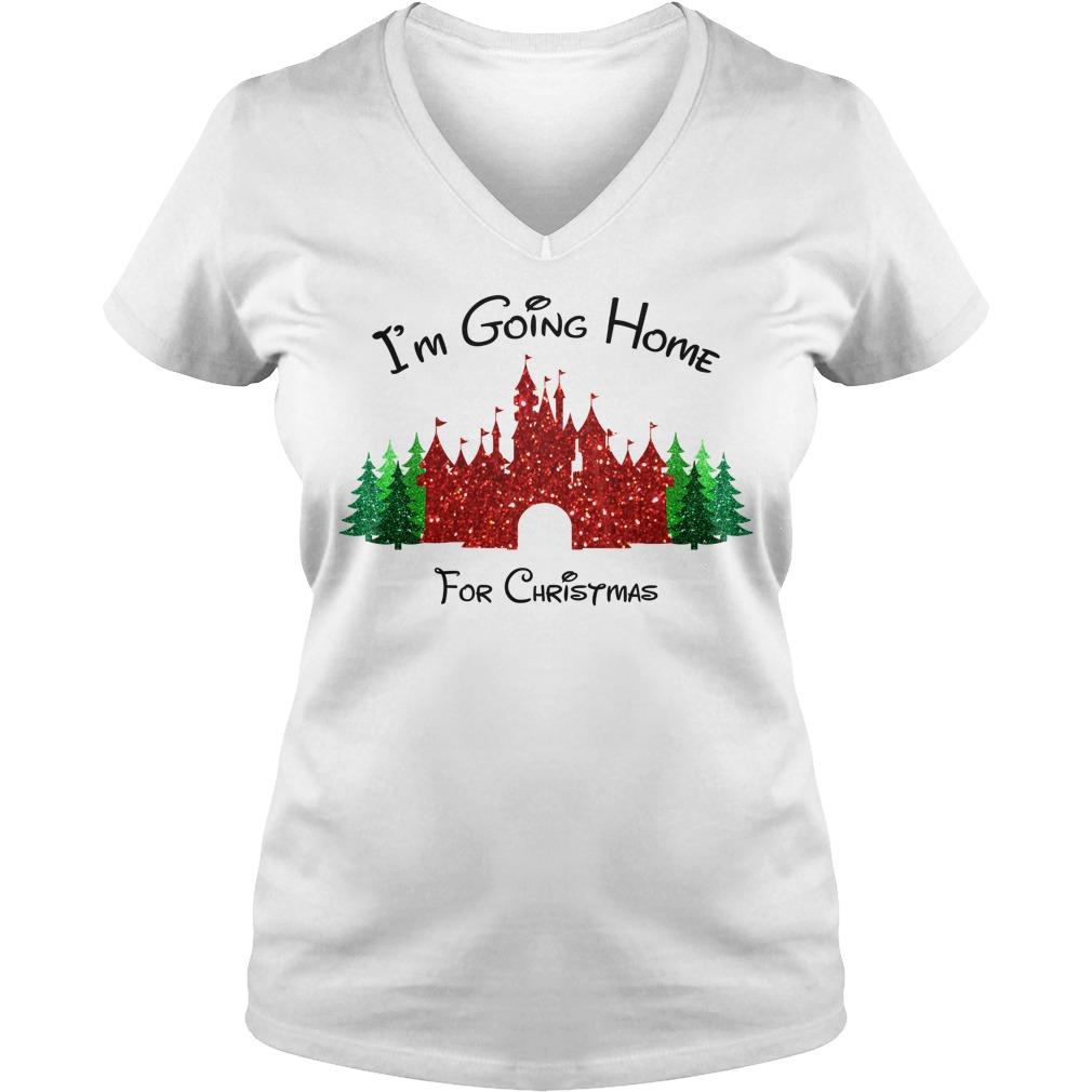 I am going home for Christmas V-neck t-shirt
