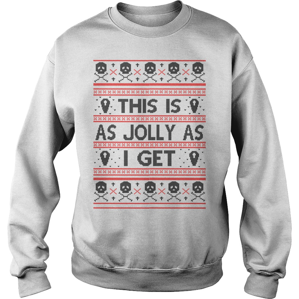 This is as Jolly as I get sweater