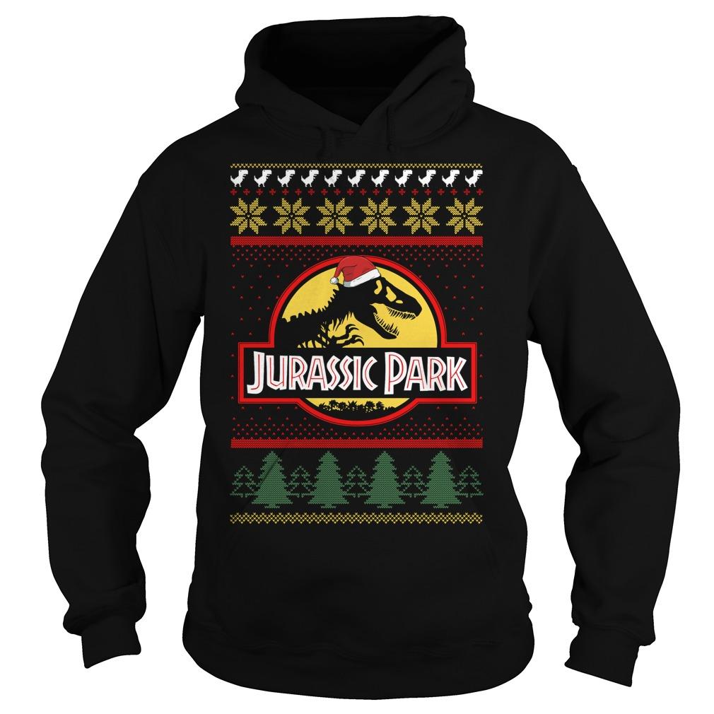 Jurassic park Christmas ugly crewneck Hoodie