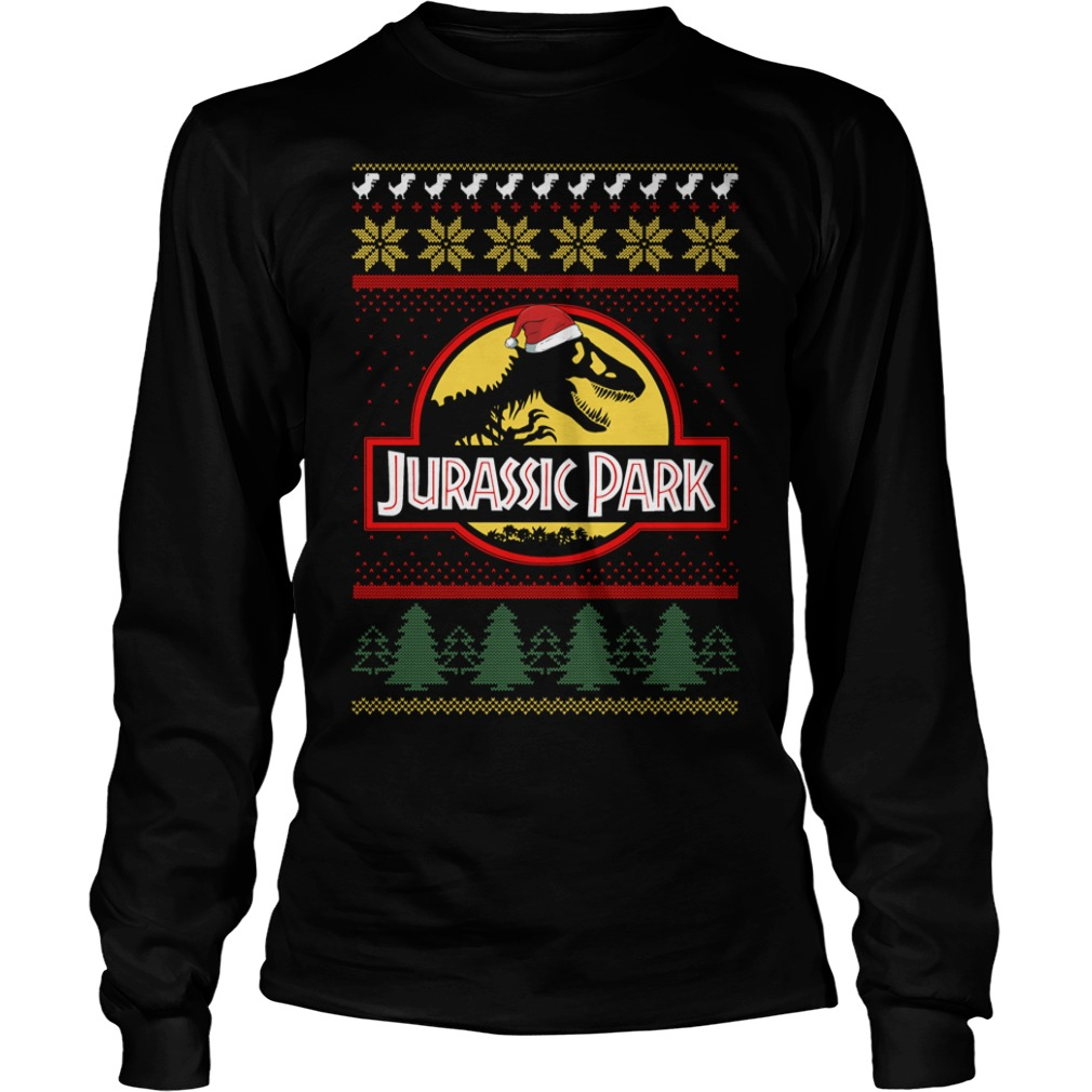 Jurassic park Christmas ugly crewneck Longsleeve Tee