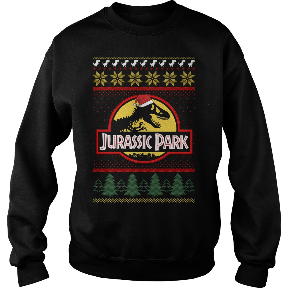 Jurassic park Christmas ugly crewneck Sweater