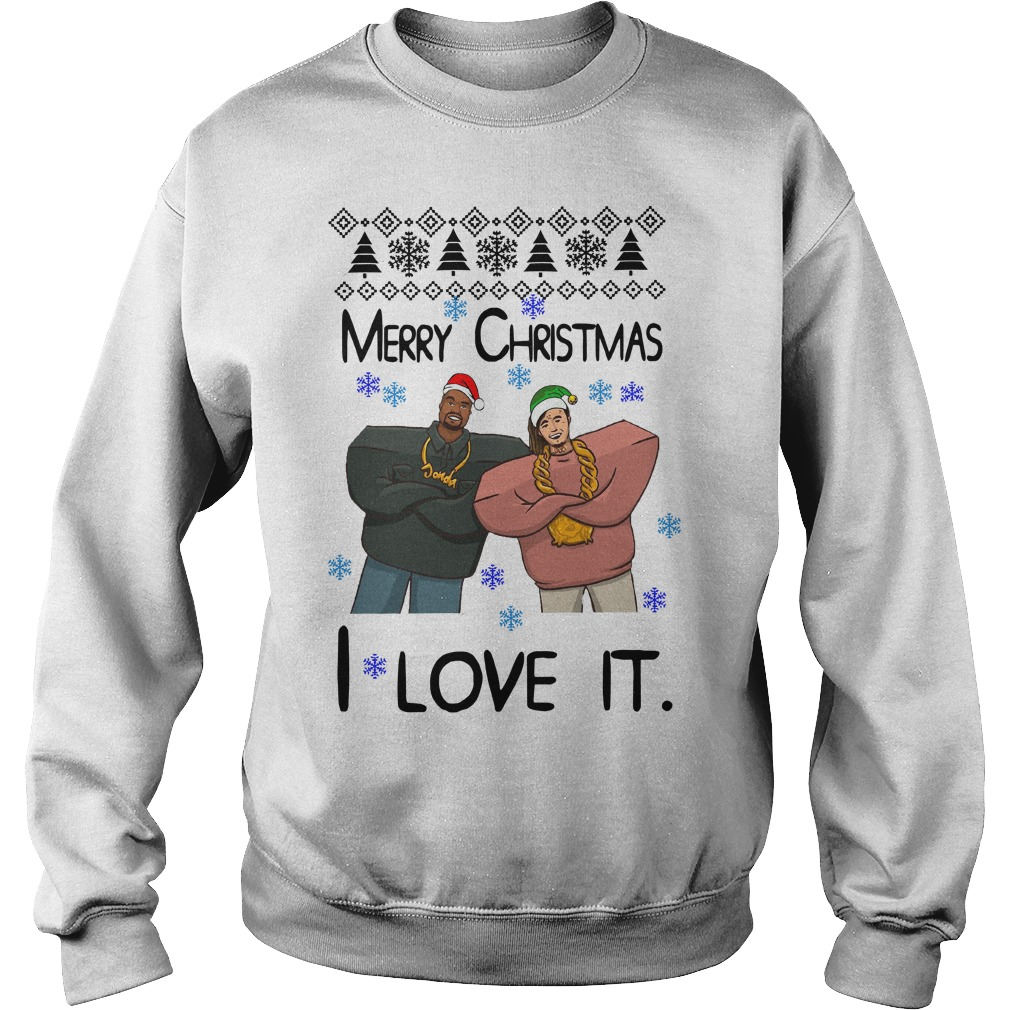 Kanye West Merry Christmas I love it Sweater