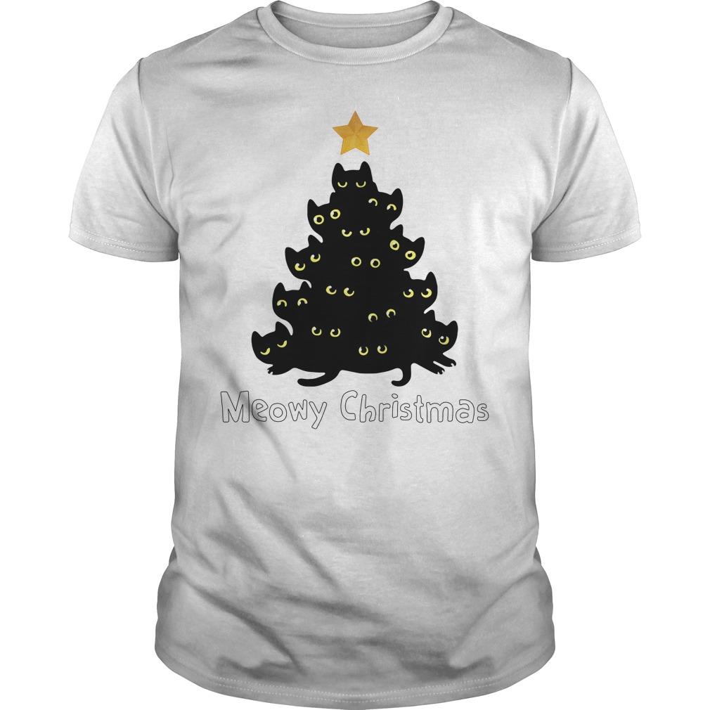 Meowy Christmas Guys Shirt