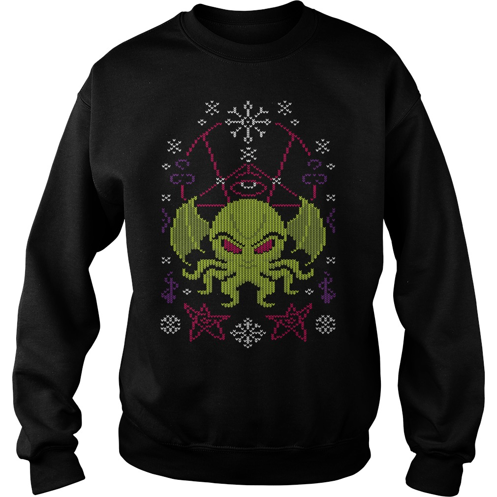 Merry Cthulhu Christmas ugly cool Sweater