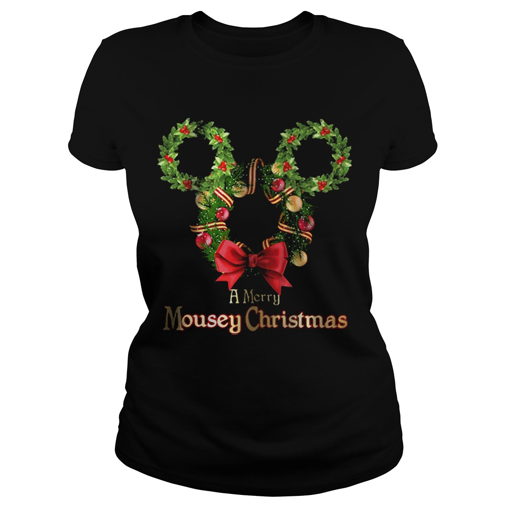 A Merry Mousey Christmas Ladies tee