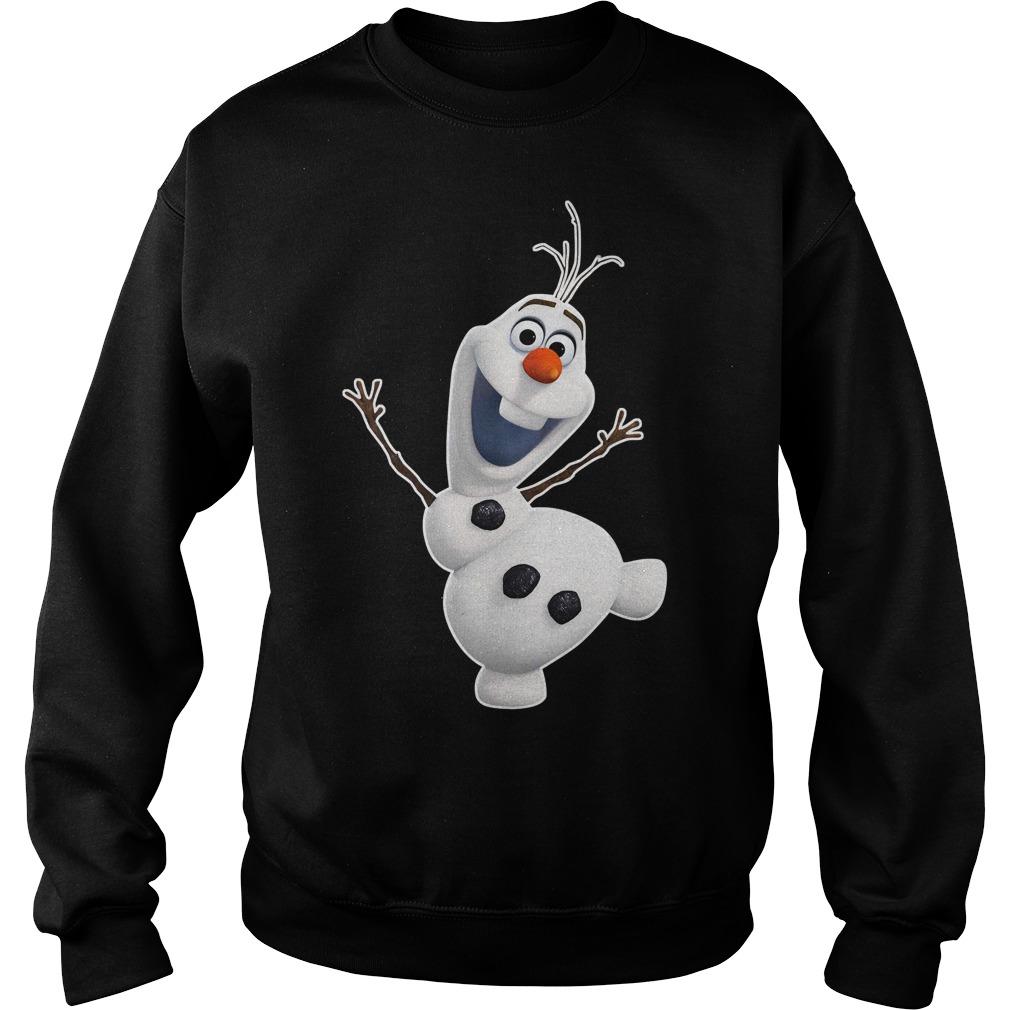 Olaf Snowman frozen Zipper Sweater