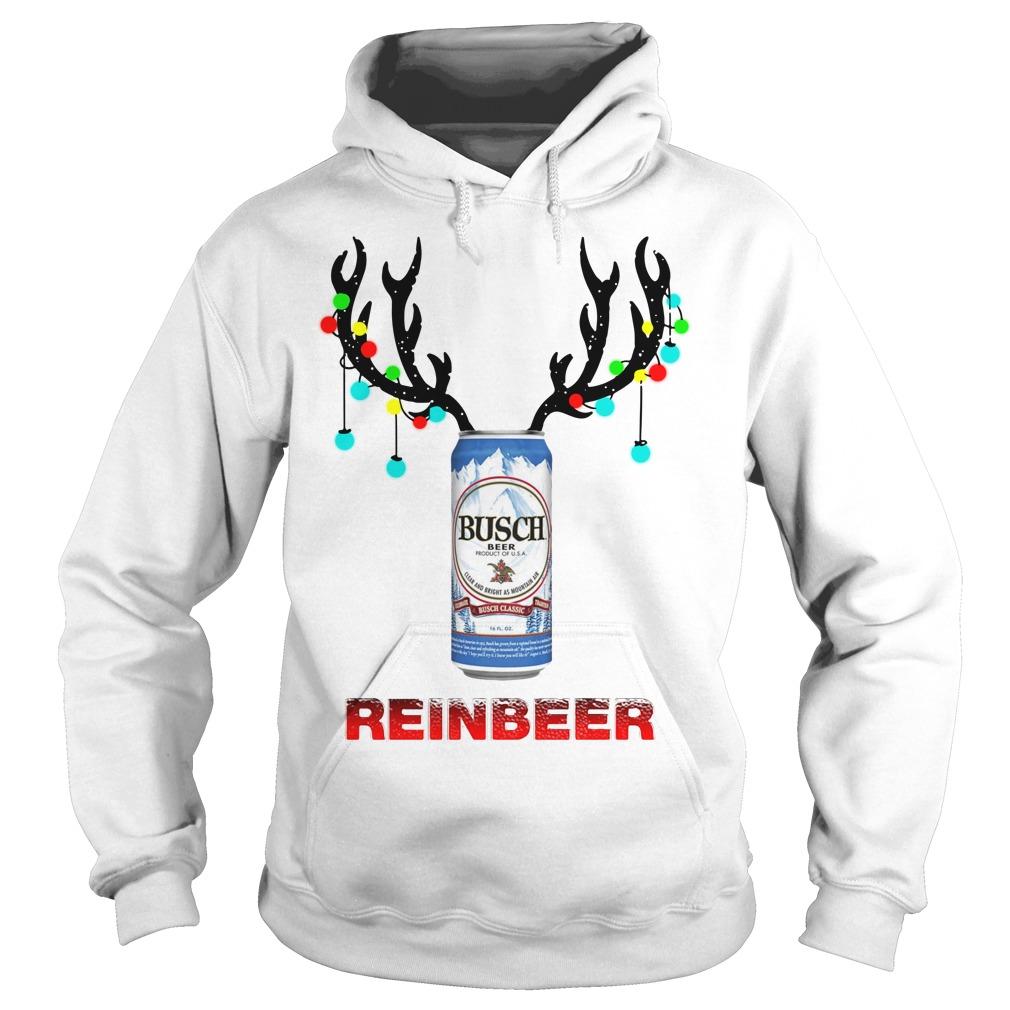 Reinbeer Busch Light Christmas Ugly Sweater, Ladies, Hoodie