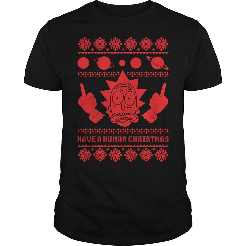 Rick Sanchez Ugly Christmas Guys shirt