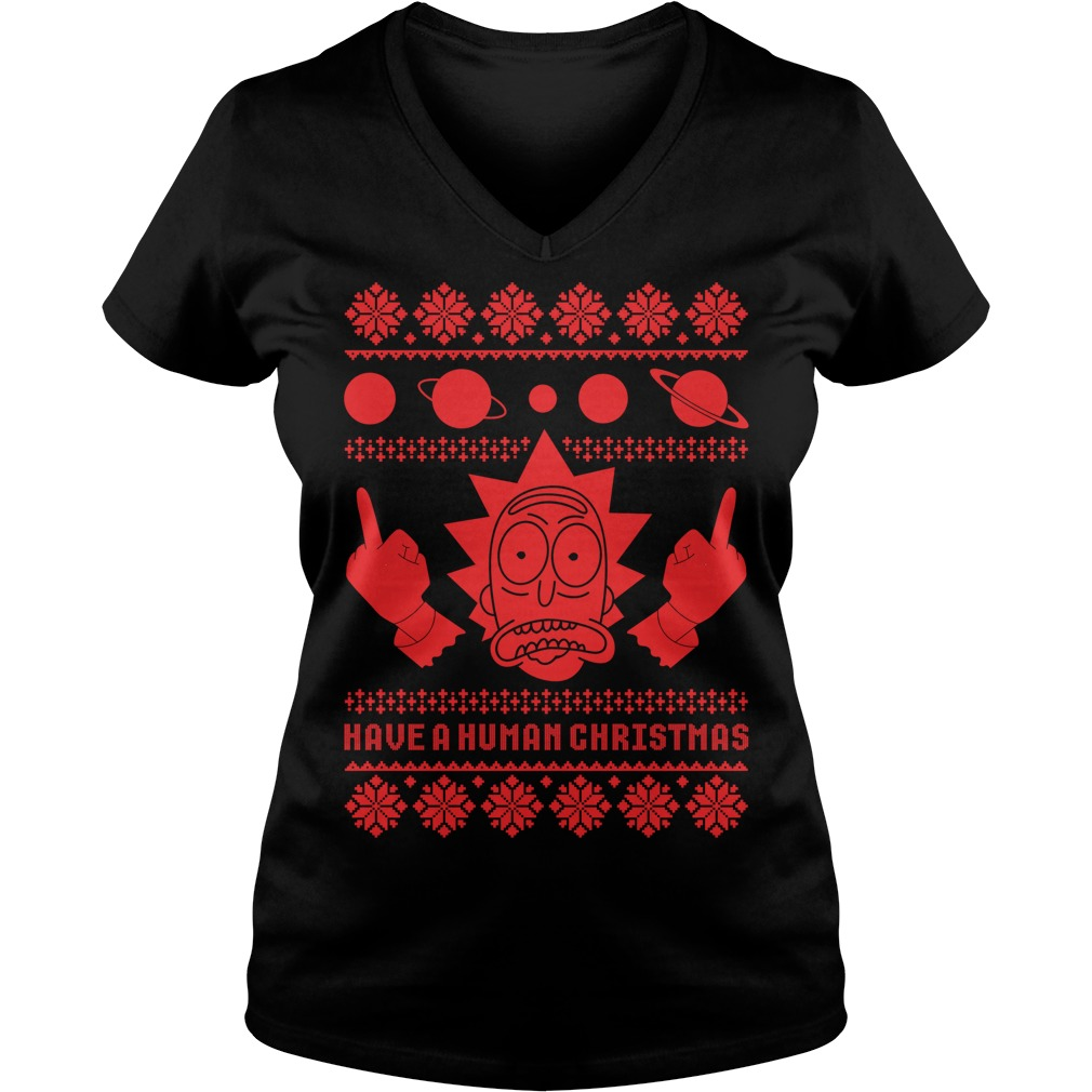 Rick Sanchez Ugly Christmas V-neck t-shirt