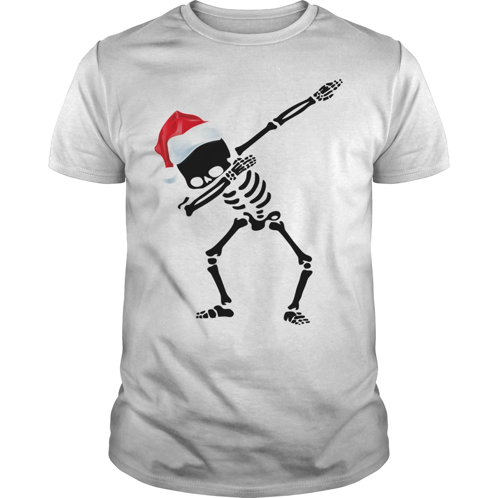 Skeleton Dabbing Christmas Guys shirt