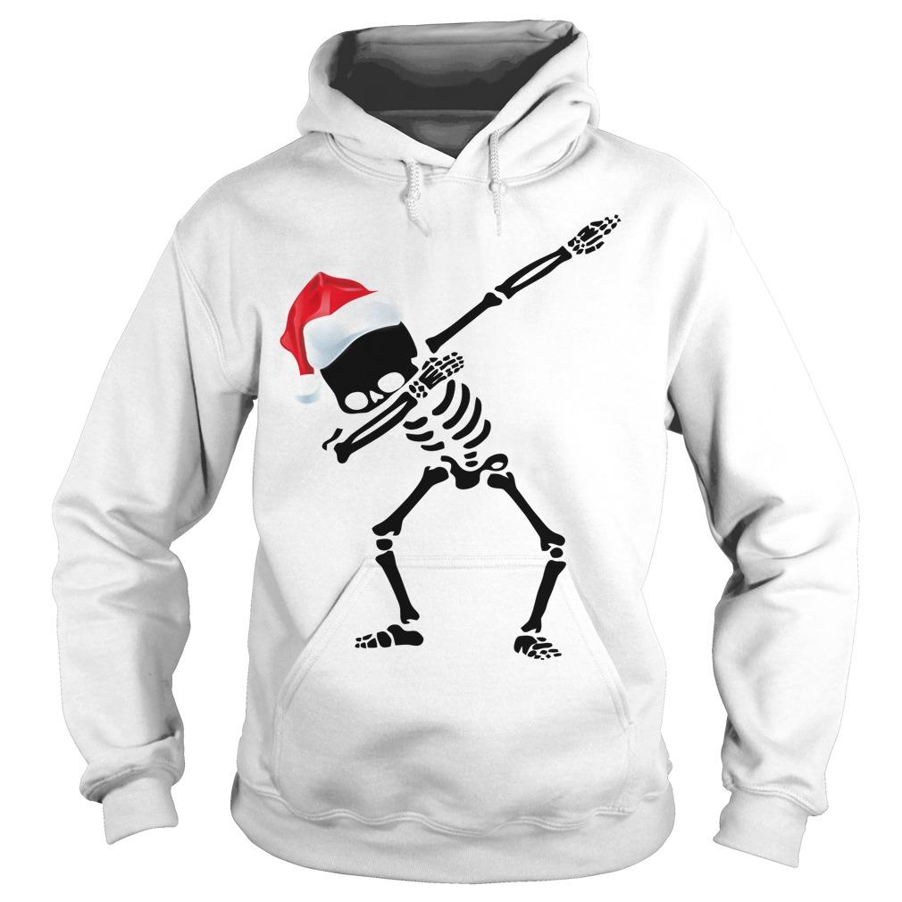 Skeleton Dabbing Christmas Hoodie