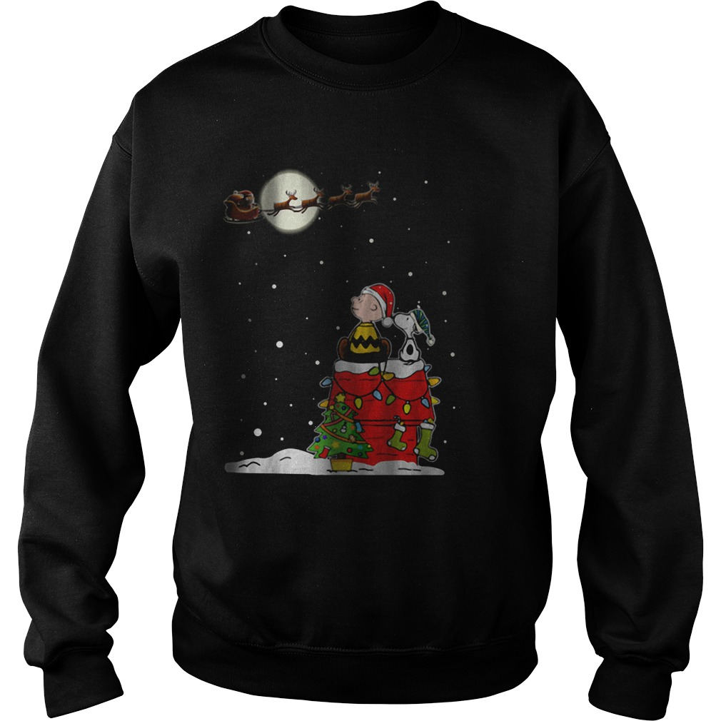 Snoopy and Charlie Brown with Santa Claus Christmas Sweater