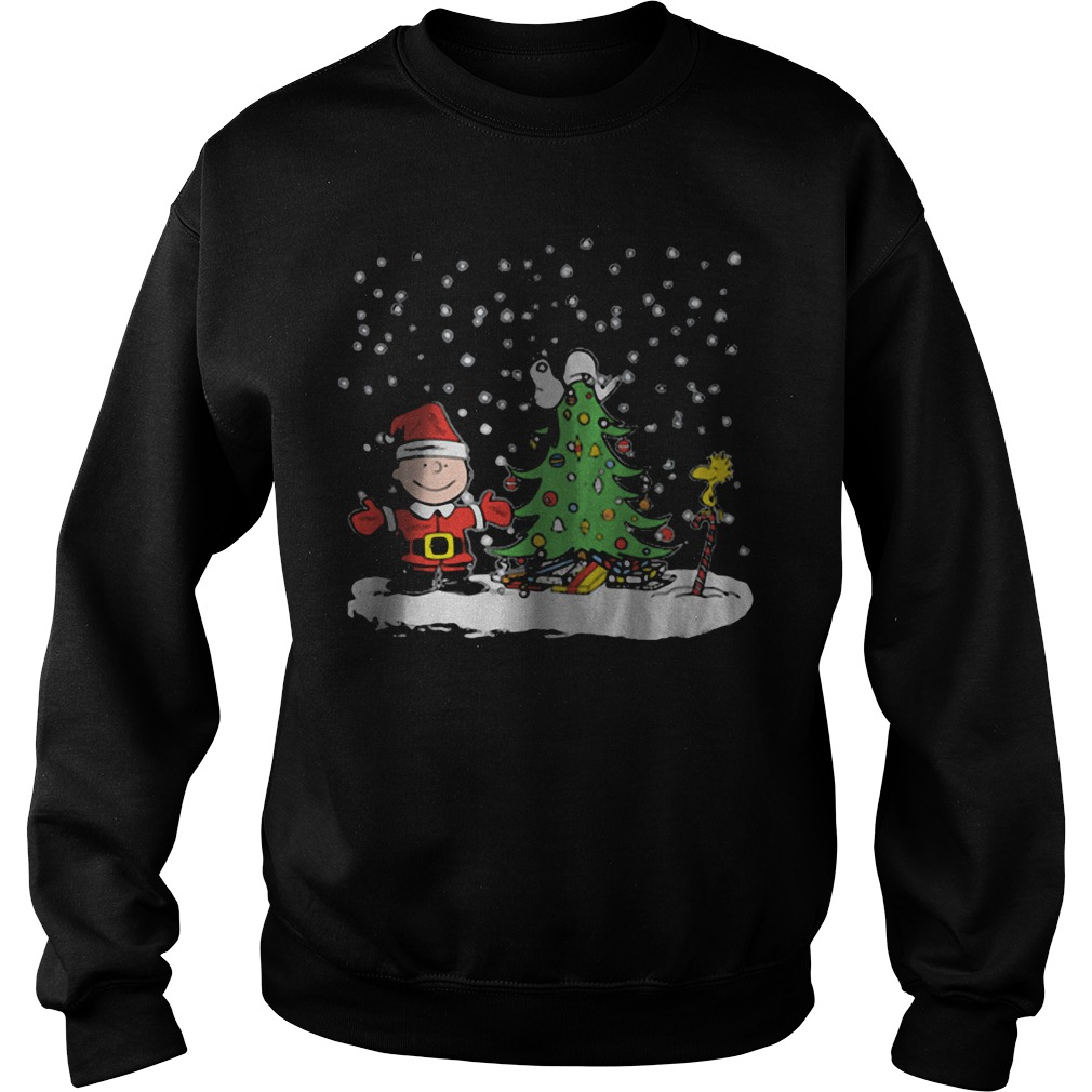 Snoopy Charlie Brown and Woodstock Christmas sweater