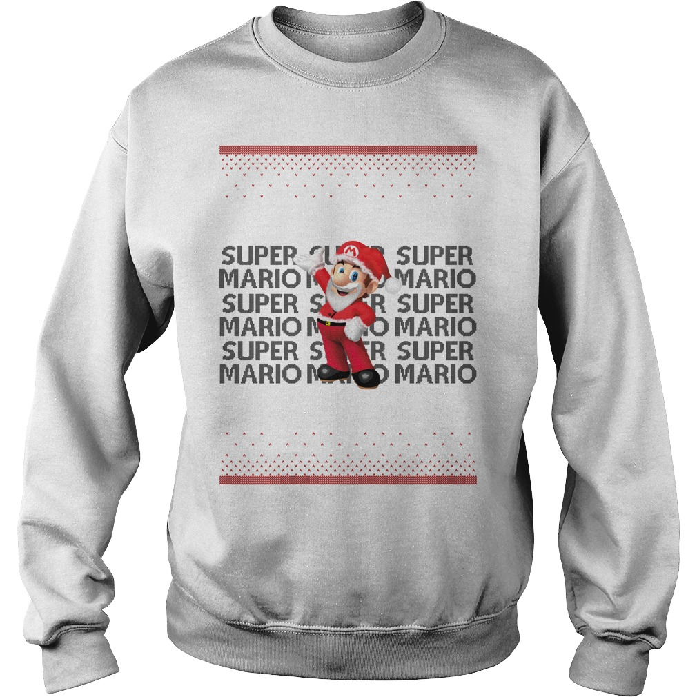 Ugly Super Mario Christmas sweater