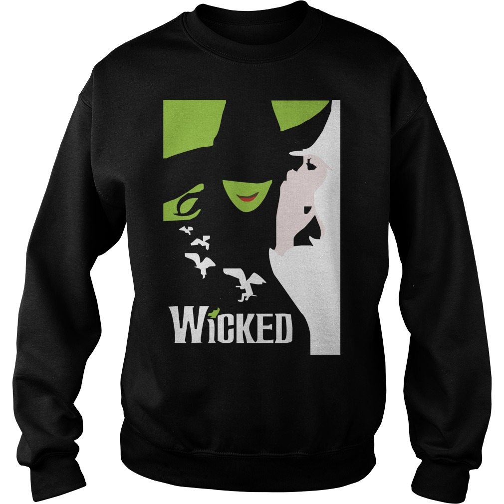 Wicked broadway musical about wizard of oz zipper Sweater