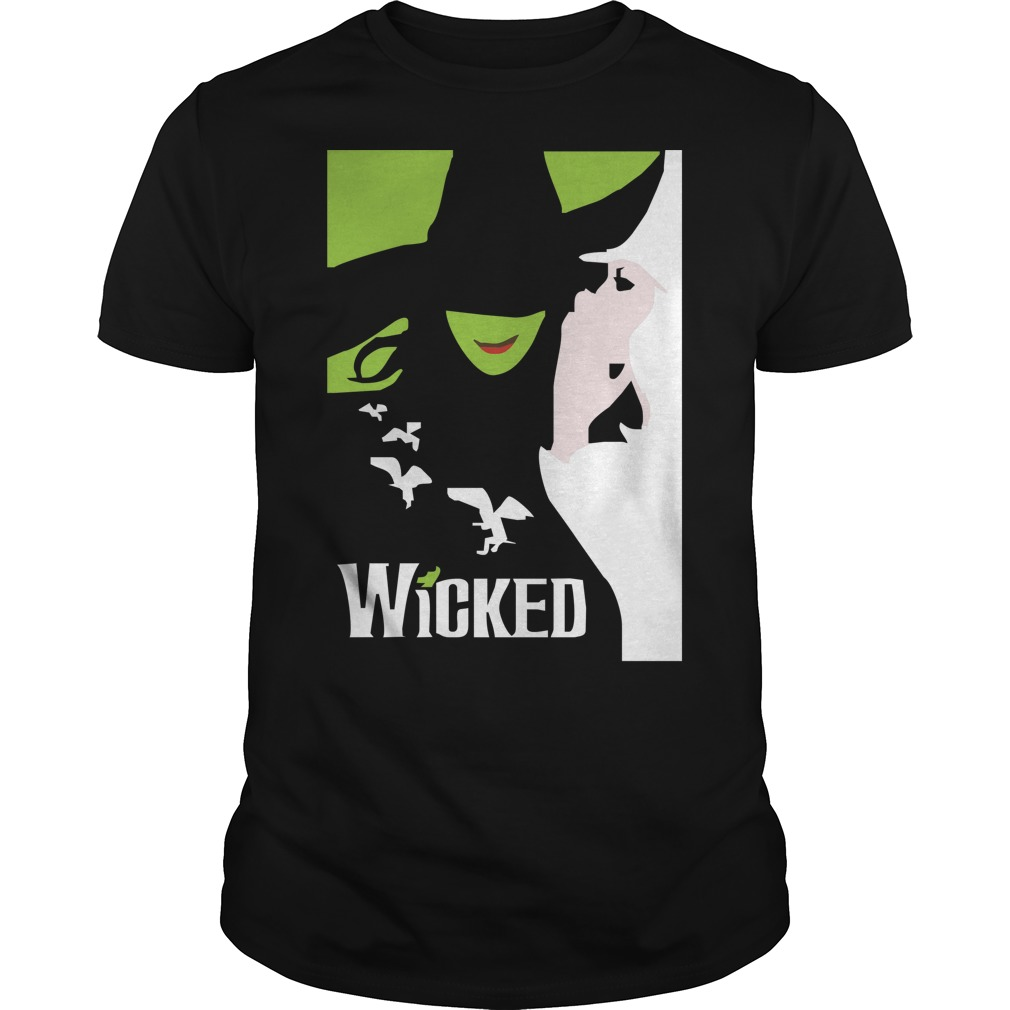 Wicked broadway musical about wizard of oz zipper shirt