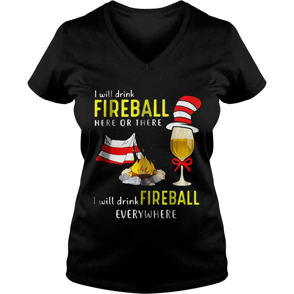 I Will Drink Fireball V-neck t-shirt