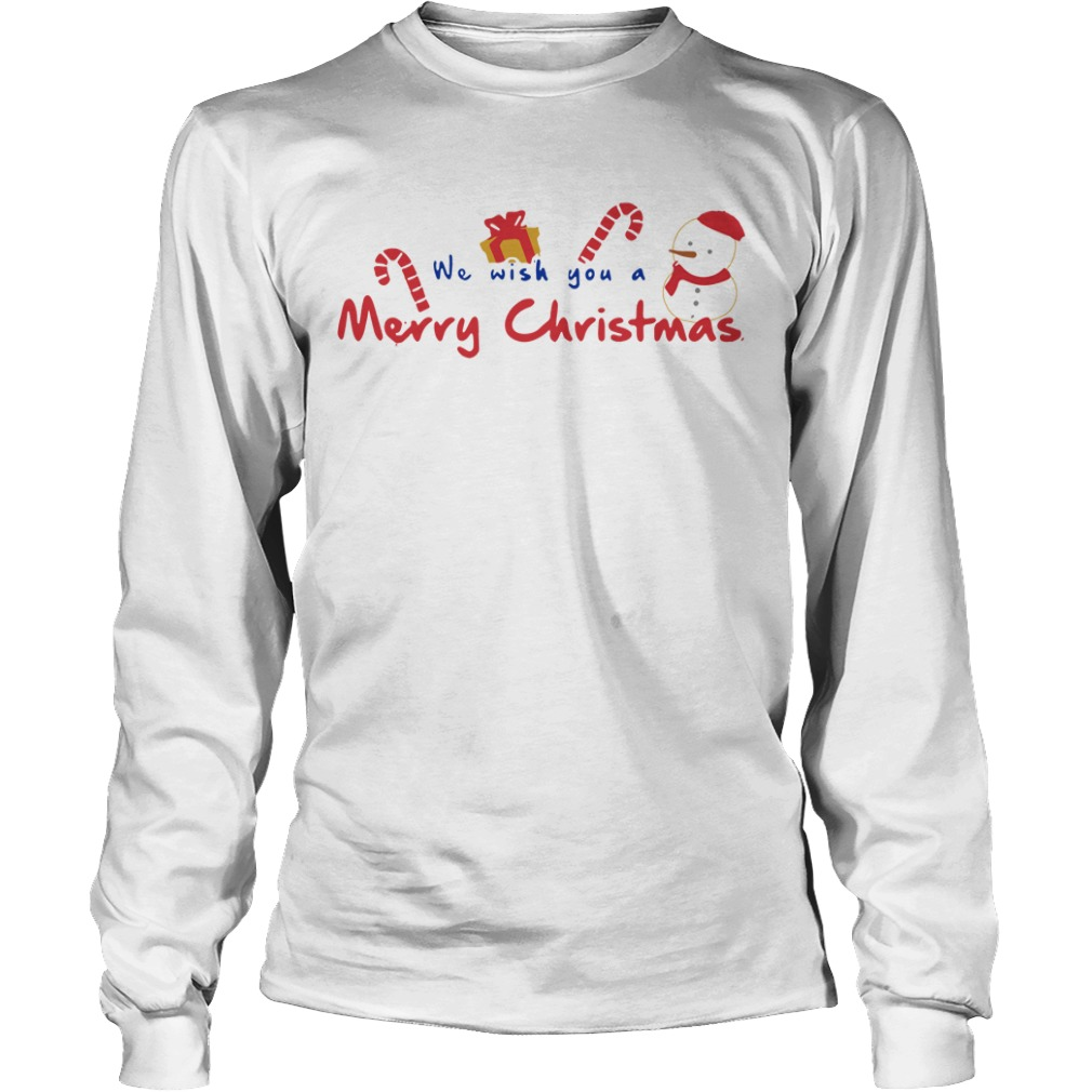 We Wish You A Merry Christmas Longsleeve tee