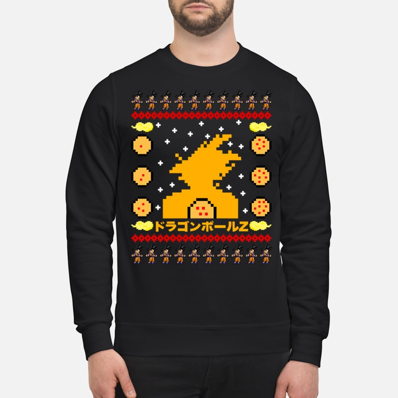 Dragon Ball Goku Ugly Christmas Sweater Guys Shirt Hoodie