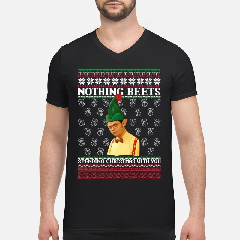 Dwight Schrute Elf Nothing Beets Spending Christmas With Sweater