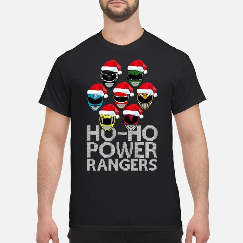 Power Rangers Christmas Jumper.Ho Ho Power Rangers Christmas Sweater Guys Shirt Hoodie