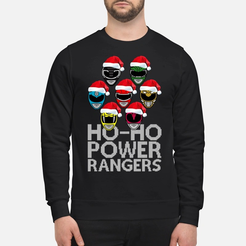 Ho Ho Power Rangers Christmas Sweater Guys Shirt Hoodie