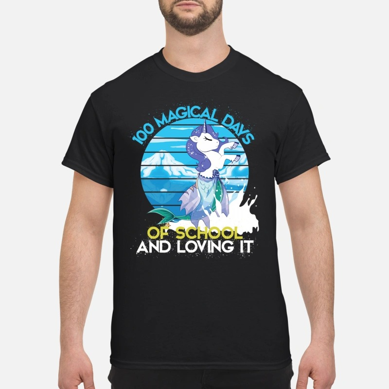 100 magical days of school and loving it 100th day of school Guys Shirt
