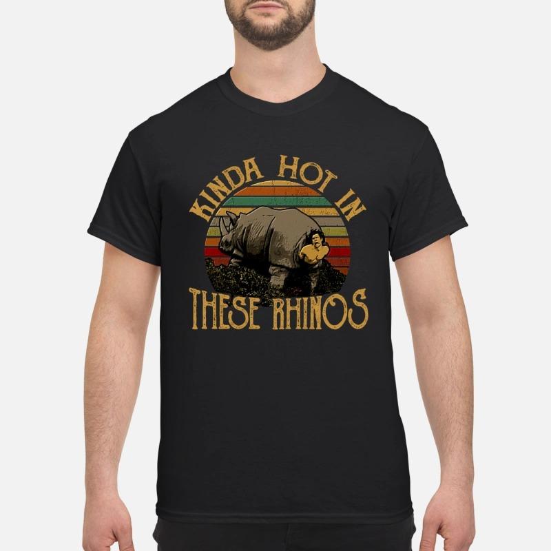 Ace ventura Kinda hot in these rhinos Guys Shirt