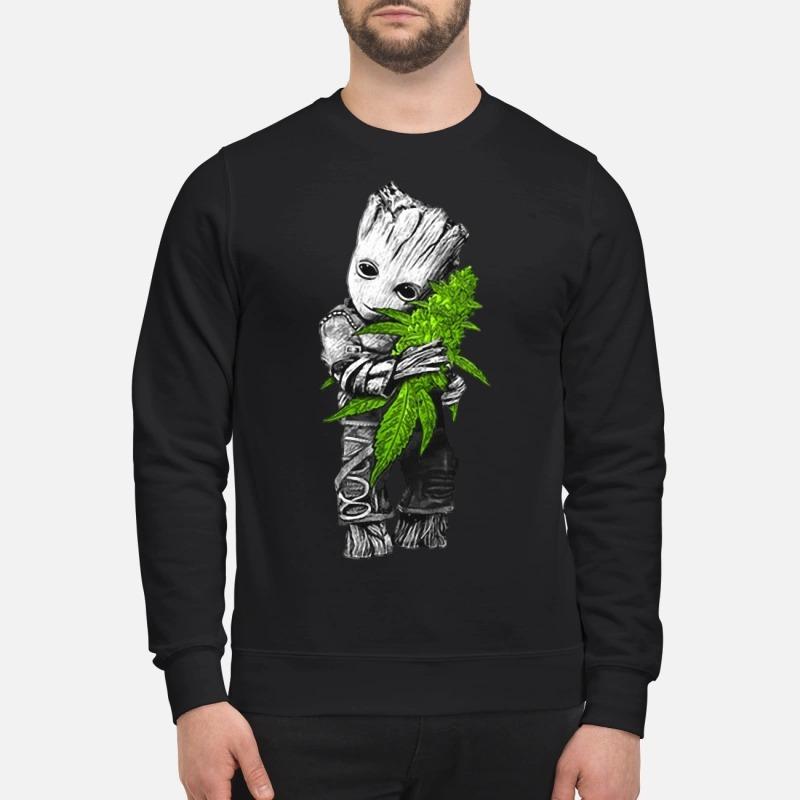 Baby groot hugs weed Sweater