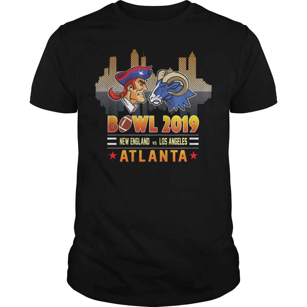 Bowl 2019 New England and Los Angeles Atlanta Guys Shirt