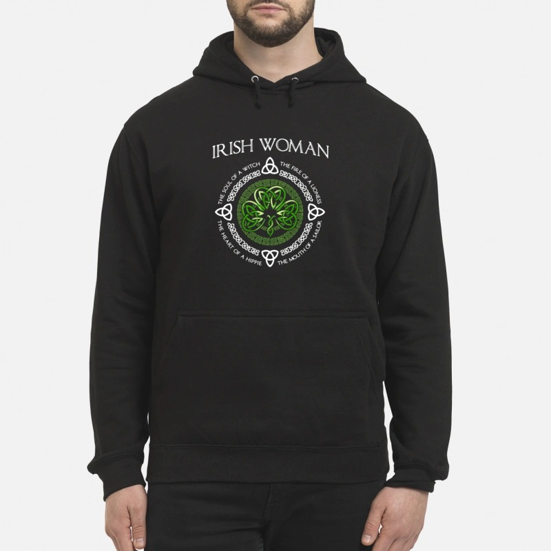 Irish Woman the soul of a witch the heart of a hippie Hoodie