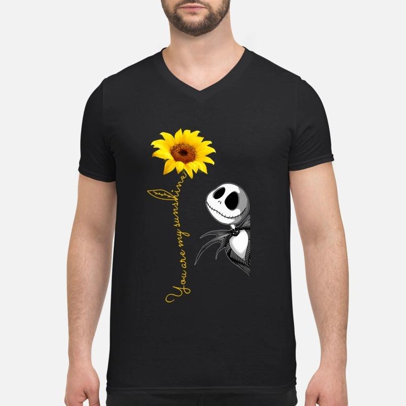Jack Skellington you are my sunshine sunflower V-neck T-shirt