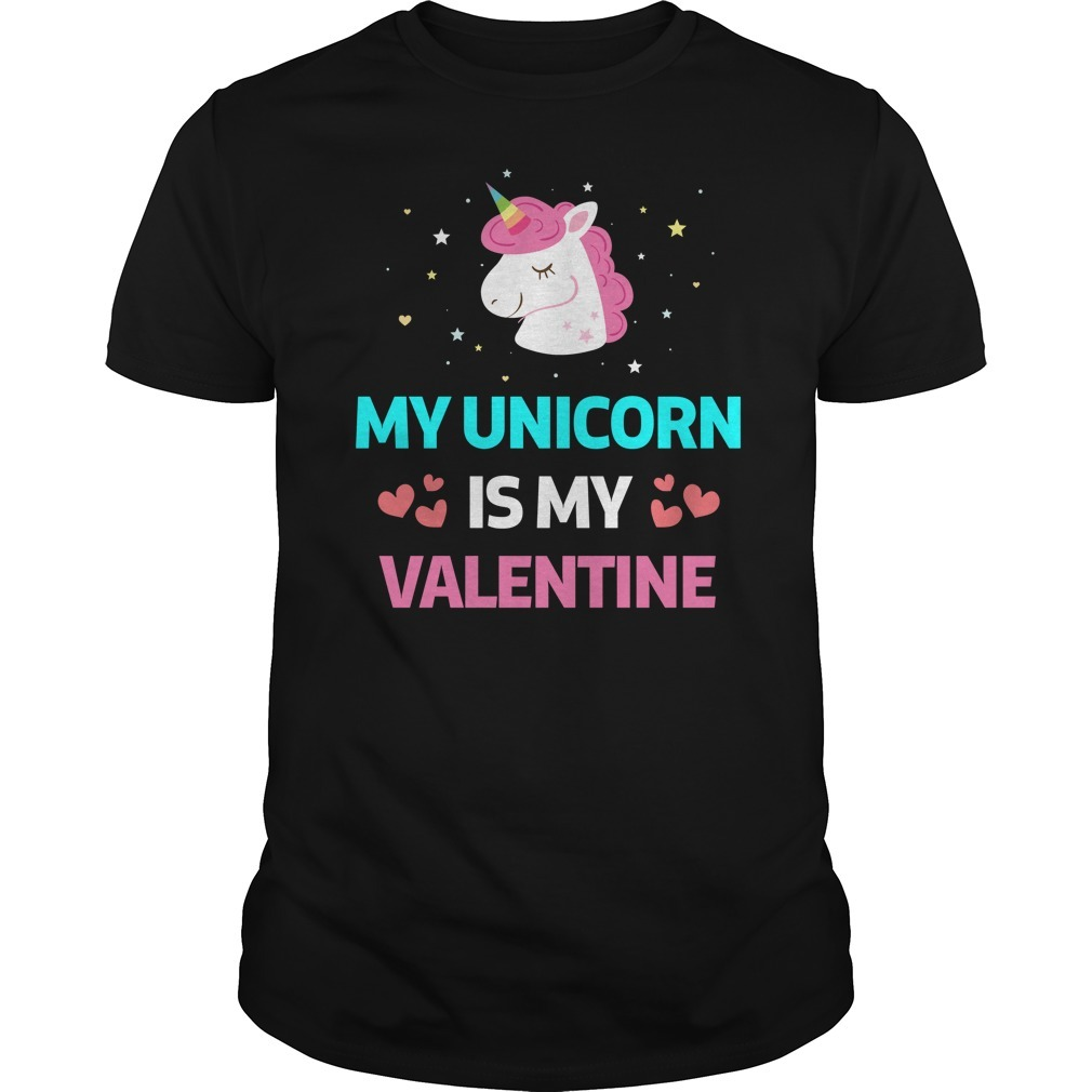 Unicorn is my valentine Guys Shirt