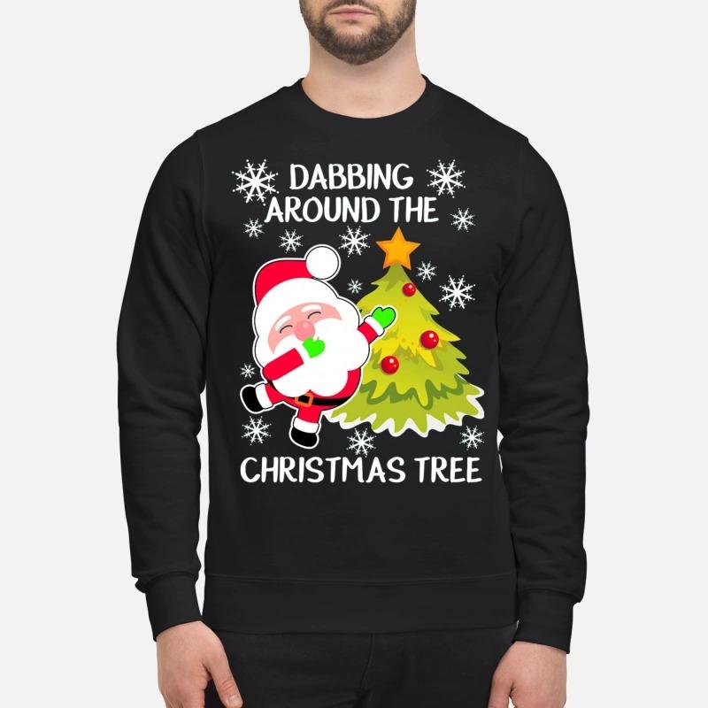 1a293b93b6ddfa Xmas Dabbing around the Christmas tree Sweater