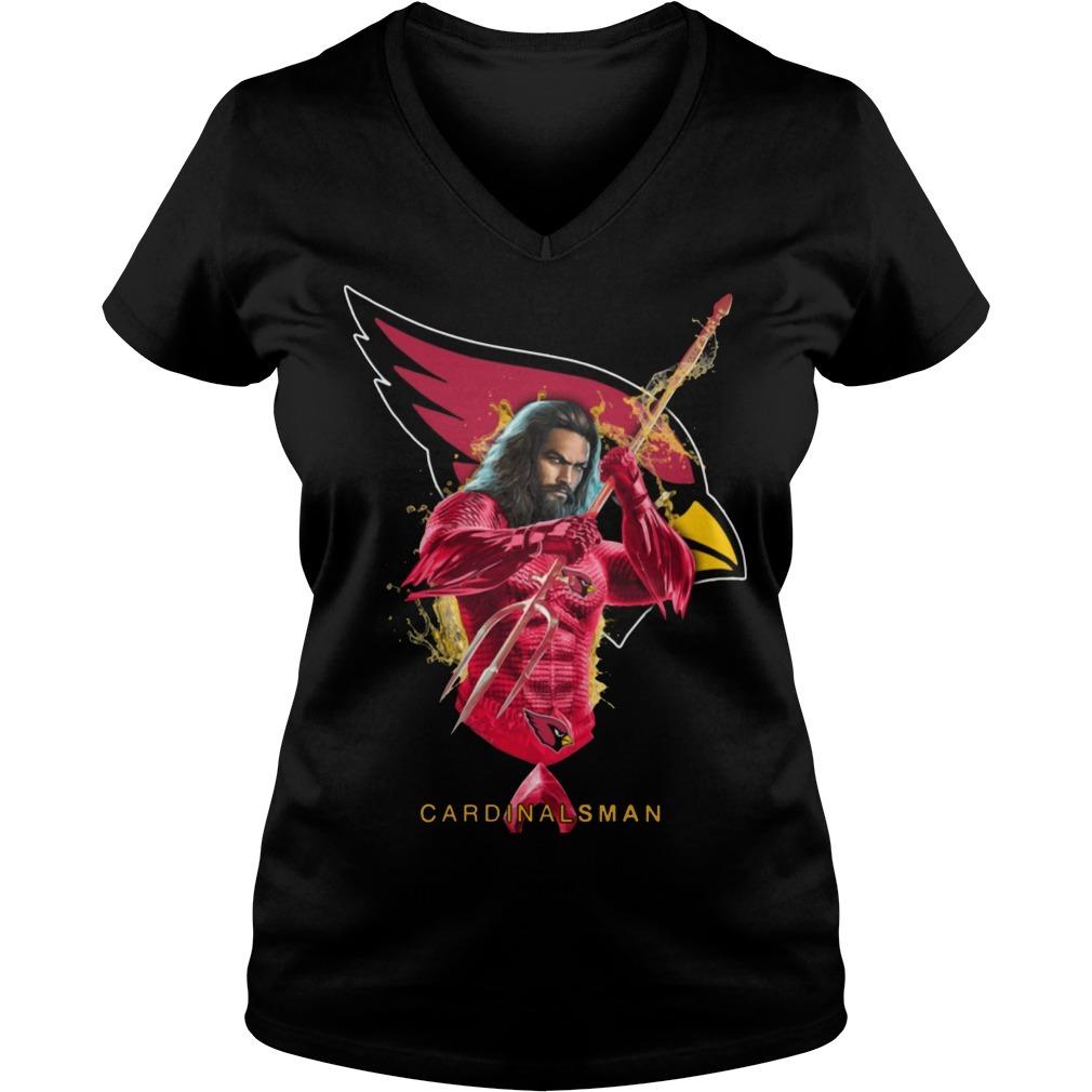 Cardinalsman Aquaman and Cardinals football team V-neck T-shirt