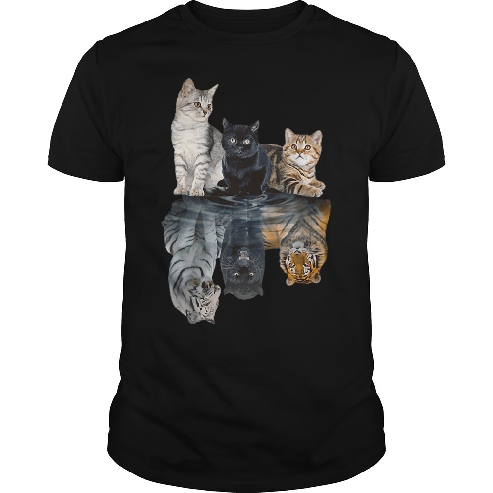 Cats tiger white glosbe Guys Shirt