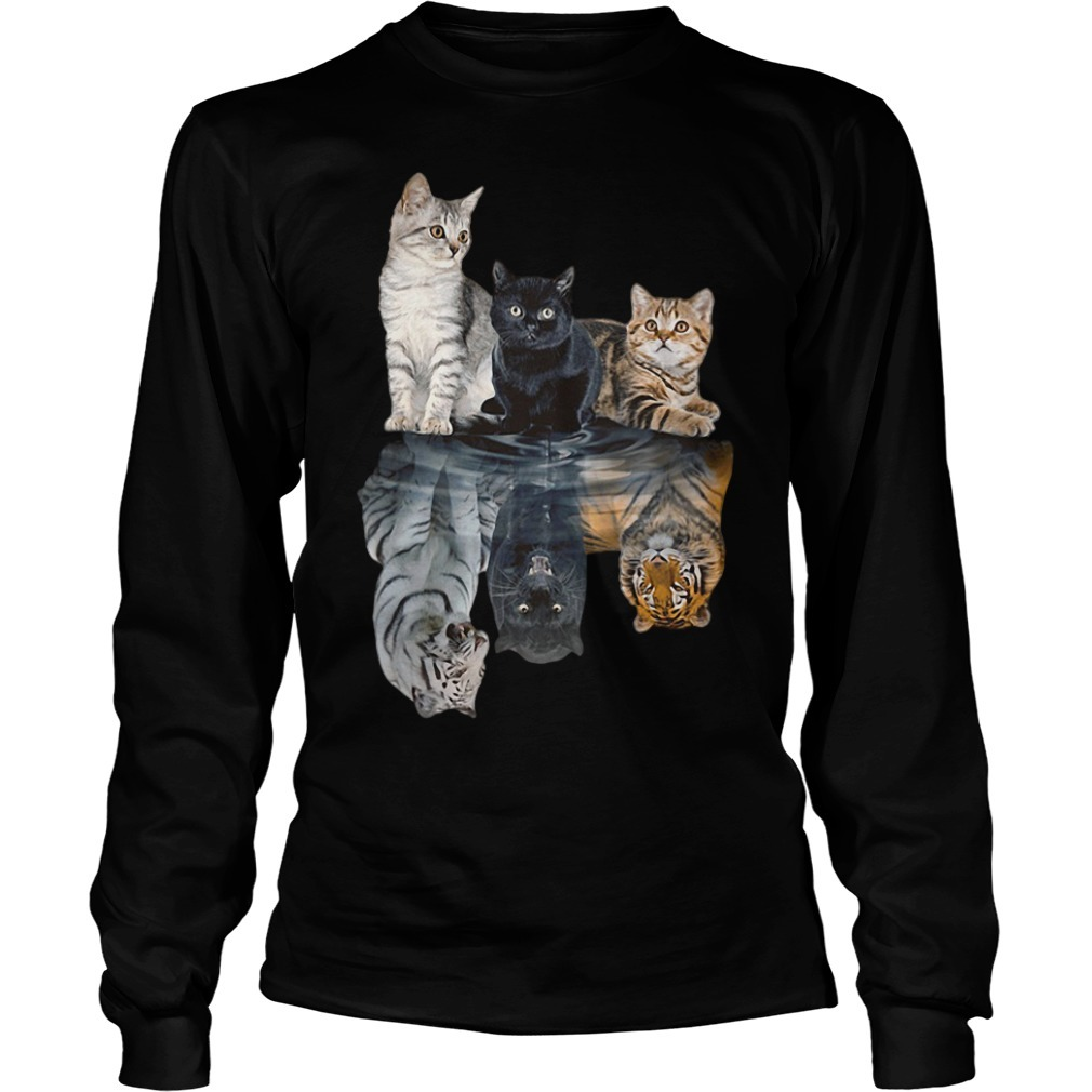 Cats tiger white glosbe Longsleeve Tee