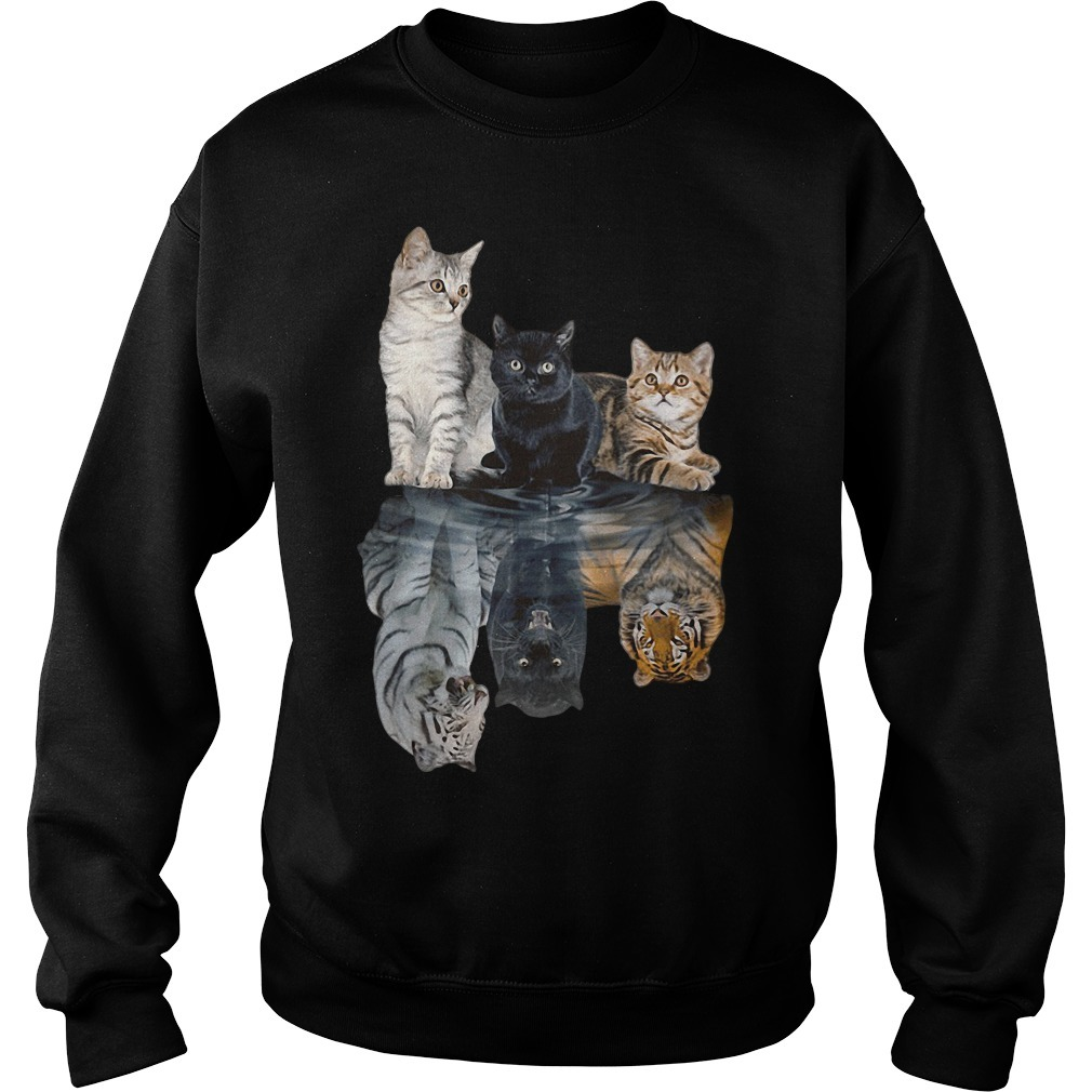 Cats tiger white glosbe Sweater